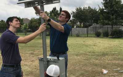 Hands on training in the field with our Summer Interns