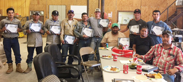 Safety Certificates Presented